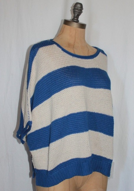 Willow & Clay Striped Oversized Red And Ivory Casual Relax Fit Sweater Image 4
