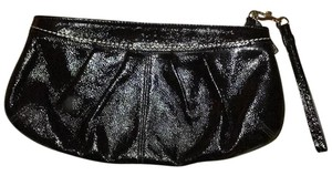 Coach Wristlet in Black Patent leather