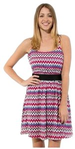 Love Culture short dress MultiColor Chevron Mini on Tradesy