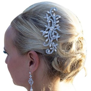 Bridal Bling New Hair Comb Flower David Crystal Hair Comb Pageant Diamond Bling