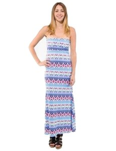 MultiColor Maxi Dress by Auditions Long Maxi Blue