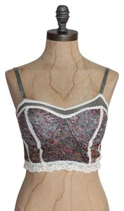 Urban Outfitters Bralette Crop Bustier Summer Lace Trim Top MULTI
