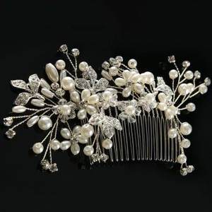 Leaf Vine Crystal Rhinestone Bling Jewelry Tiara Hair Comb Flower