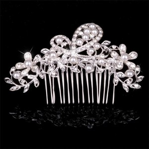 Gorgeous Silver Hair Comb Large Big Rhinestone Tiara Crystal David Bridal Wedding