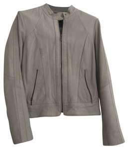 Cole Haan Gray Leather Jacket
