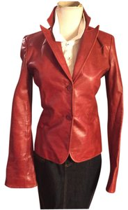 Laundry by Shelli Segal Red Leather Jacket