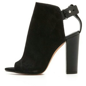 Vince Suede Open-toe Chunky Black Boots