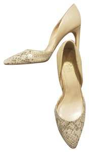Vince Camuto Nude, gold, tan, gray Pumps