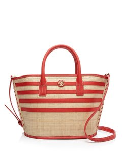 Tory Burch Natural Stripe Straw Tote in Multi-Color