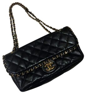 Chanel Calfskin Quilted Front Flap Shoulder Bag