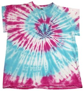Other Tie Dye Marijuana Weed T Shirt Multi-Color