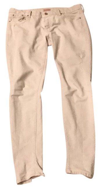 """Item - Cream Distressed """"The Looker"""" Skinny Jeans Size 31 (6, M)"""