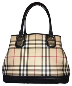 Burberry Satchel in brown plaid