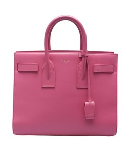 Saint Laurent Yves Leather Tote in Pink