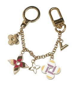 Louis Vuitton Louis Vuitton Fleur De Monogram Gold-toneBag Charm (122697)