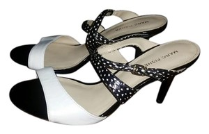 Marc Fisher Retro black and white Mules