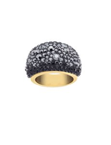 Swarovski NEW Swarovski Mini Chic Black Domed Band Ring Size 55/7