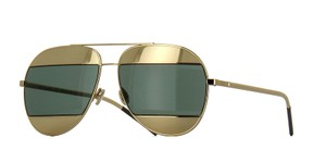 Dior Eye Catching Aviator Two Tone Gold Split 1 Sunglasses 00085