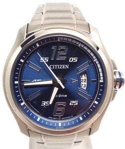 Citizen Eco Drive Blue Dial Stainless Steel Mens Watch AW1350-83M