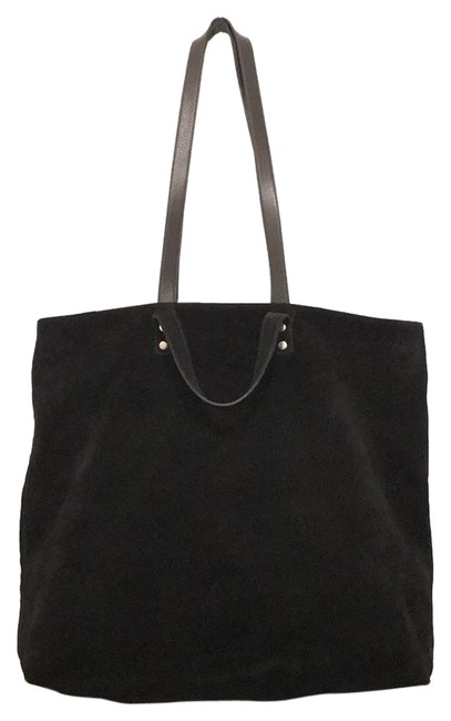 Item - Black Suede Leather Tote