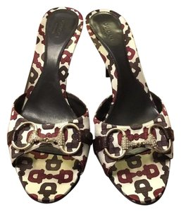 Gucci Hosebit Silk Monogram multi color Sandals