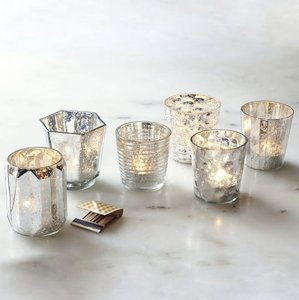 West Elm Silver / Mercury Glass (24) Votive/Candle