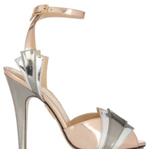 Charlotte Olympia silver and gold Platforms
