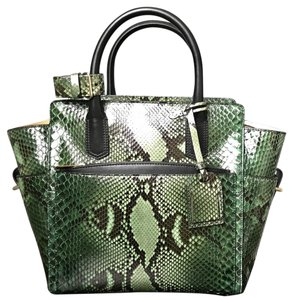 Reed Krakoff Atlantique Mini Atlantique Snakeskin Atlantique Snakeskin Tote in Green Emerald