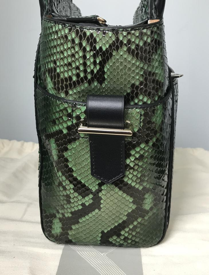 Krakoff Leather Atlantique Snakeskin Mini Emerald Tote Green Reed 1dxqpwBRR