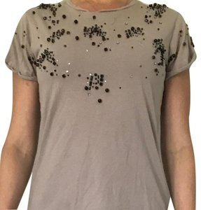 Victoria's Secret T Shirt Gray with black beads