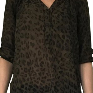 Ann Taylor LOFT Top Black and brown
