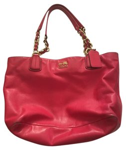 Coach Chain Monogram Tote in Pink