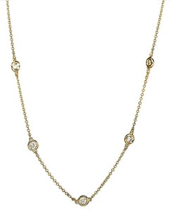 EFFY EFFY Trio 14 Kt Yellow Gold Diamond Station Necklace