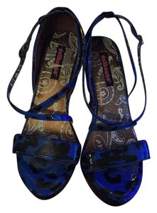 Dollhouse blue and black Wedges