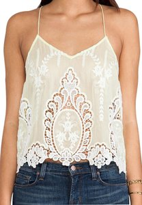 Dolce Vita Petticoat Embroidery Dv Silk Cotton White Classic Sleek Chic Dv Sabelle Tank Top Yellow