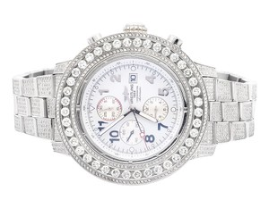 Breitling Custom A13370 Super Avenger XL 53MM Stainless Steel with 20 Ct