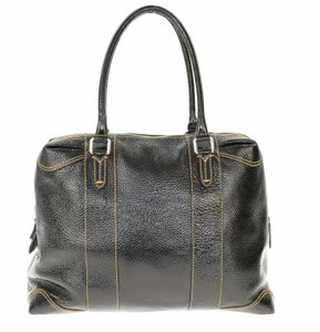 Fendi Vinyl Shoulder Tote in Black