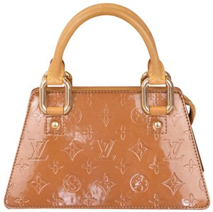 Louis Vuitton Monogram Vernis Patent Leather Satchel in Brown