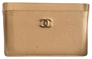 Chanel Auth. Chanel Beige Card Case