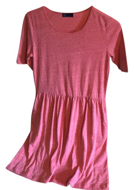 Item - Red Cotton Short Casual Dress Size 4 (S)