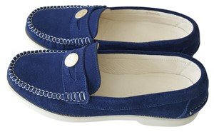 Chanel Loafers Suede Loafers Penny Loafers Blue Flats