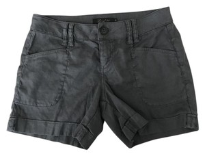 Level 99 Linen Stretch Cuffed Shorts Gray