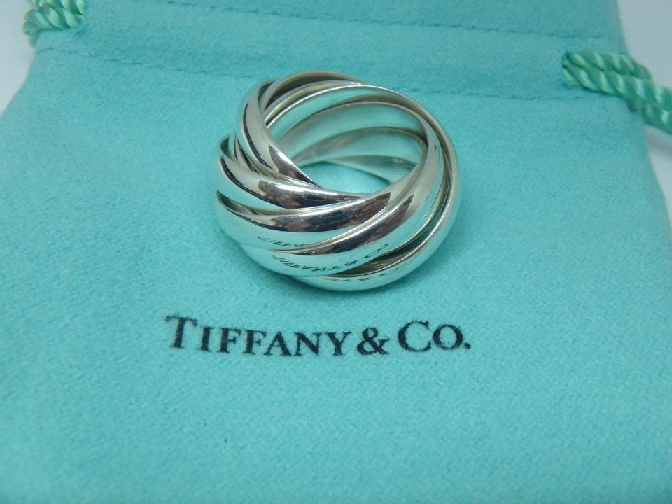 17dd8a6d3 Tiffany & Co. Paloma Picasso Melody sterling silver 9 band ring Image 5.  123456. 1 ∕ 6