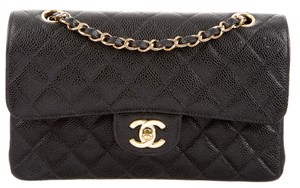 Chanel Classic Flap Small Double Caviar Leather Shoulder Bag