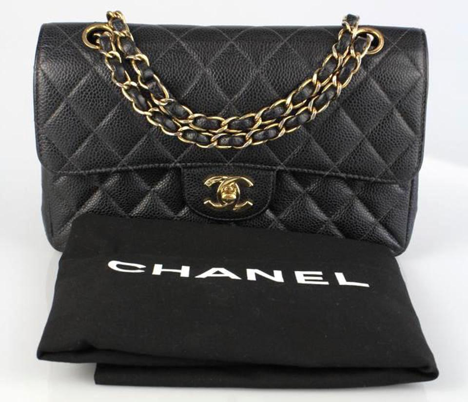 475e06607c16c Chanel 2.55 Reissue Classic Double Flap Quilted Cc Logo Small Medium Black  Caviar Leather Shoulder Bag