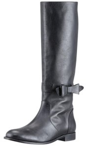 RED Valentino Riding Valentino Bow Knee Black Boots