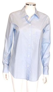 Theory Button Down Shirt Baby Blue