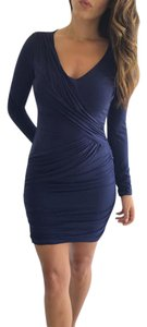 BCBGMAXAZRIA Longsleeve V-neck Evening Bodycon Dress