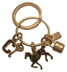 Coach Coach Horse, C, Lock, Key, and Coach Tag Key Chain $60