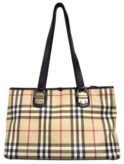 Burberry Regency BeigeBlack Tote Bag Totes on Sale